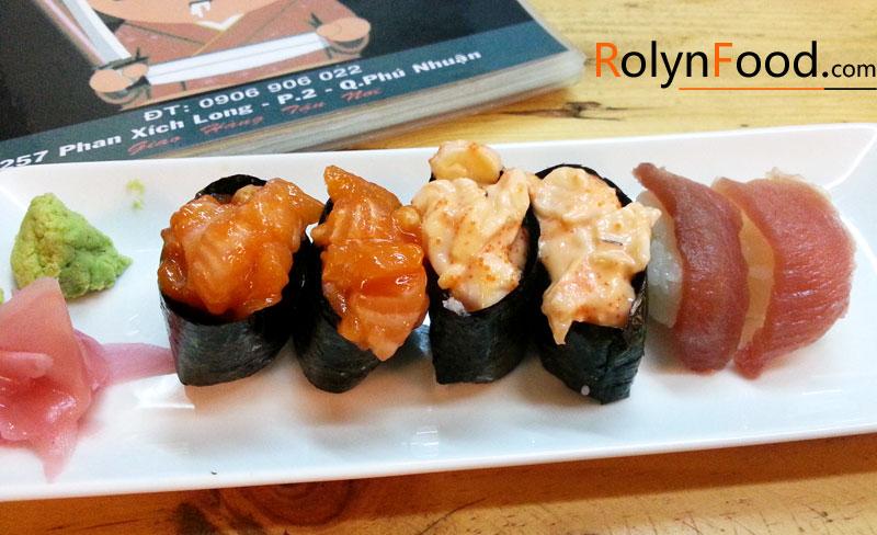 Yuri sushi quan an mon Nhat o Sai Gon rolyn food hinh anh 1