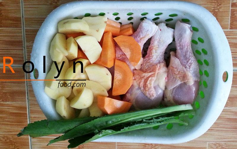 cách nấu canh gà hầm kim chi hàn quốc (1)