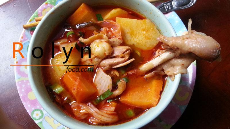 món ăn ngày tết canh gà hầm kim chi (1)