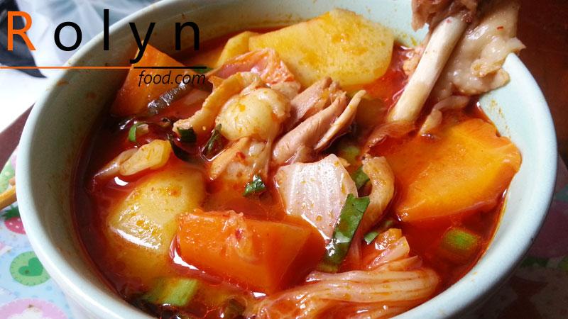 món ăn ngày tết canh gà hầm kim chi (3)