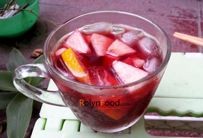 cach pha che cocktail sangria don gian trong 15 phut rolyn food hinh anh 2