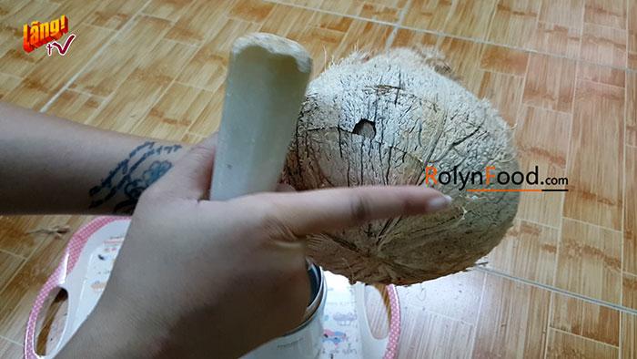 cách chặt dừa sáp miền nam rolynfood (4)