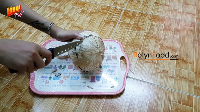 cách chặt dừa sáp miền nam rolynfood (5)