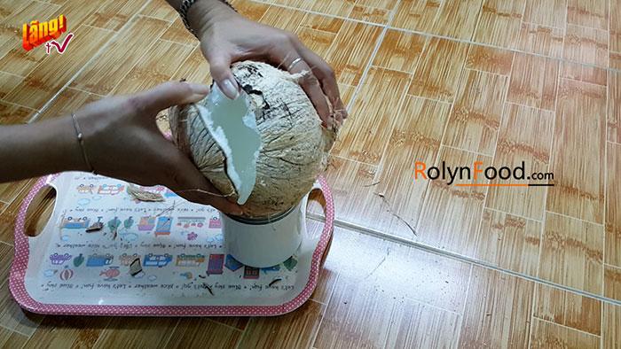 cách chặt dừa sáp miền nam rolynfood (6)