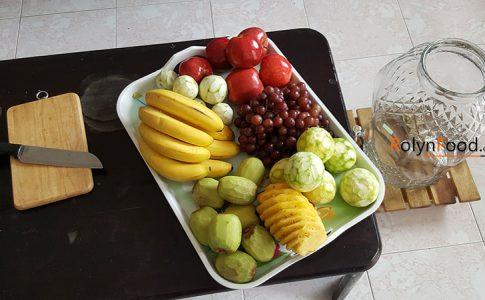 hình ảnh cách làm rượu trái cây tươi rolynfood.com hinh anh lam ruou trai cay tuoi